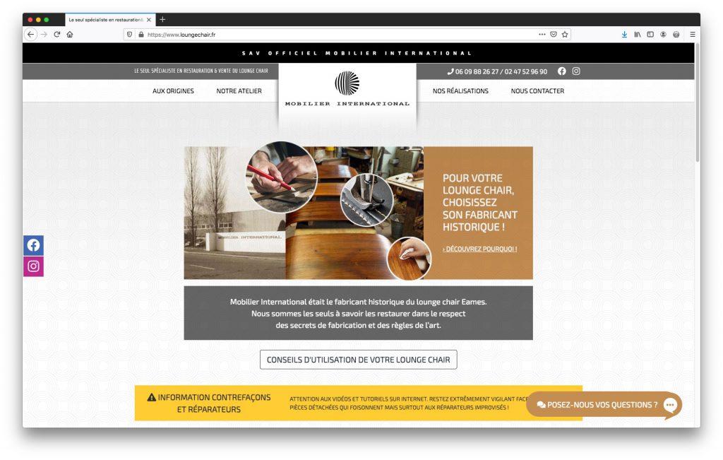 Mobilier International - Spécialiste du Lounge Chair de Eames