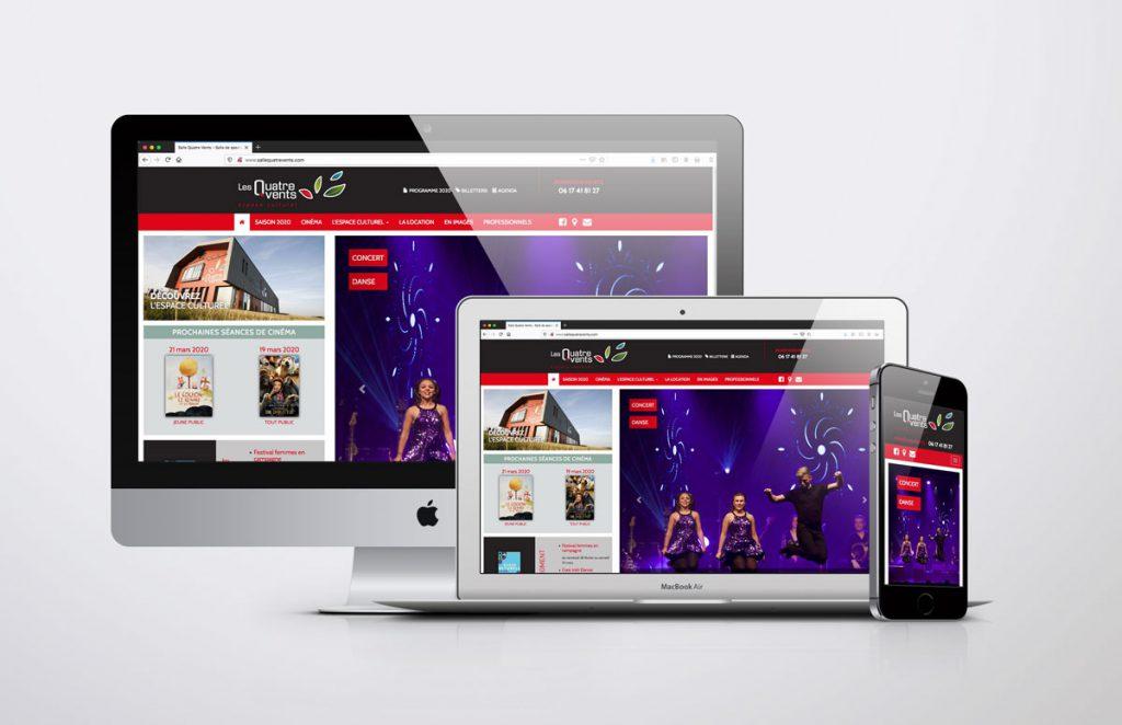 Site Internet Salle des Quatre Vents