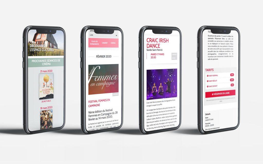 Version Mobile - Site Salle des Quatre Vents