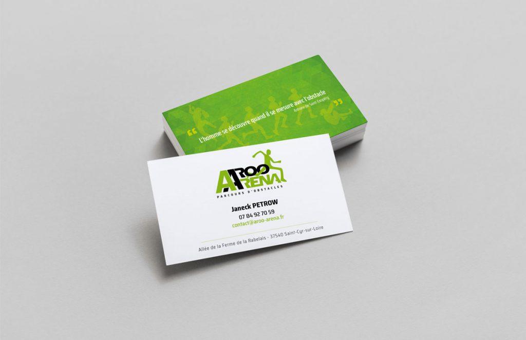 Cartes de visite Aroo Arena