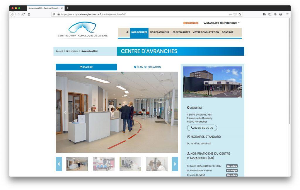 Fiche centre - Site Internet