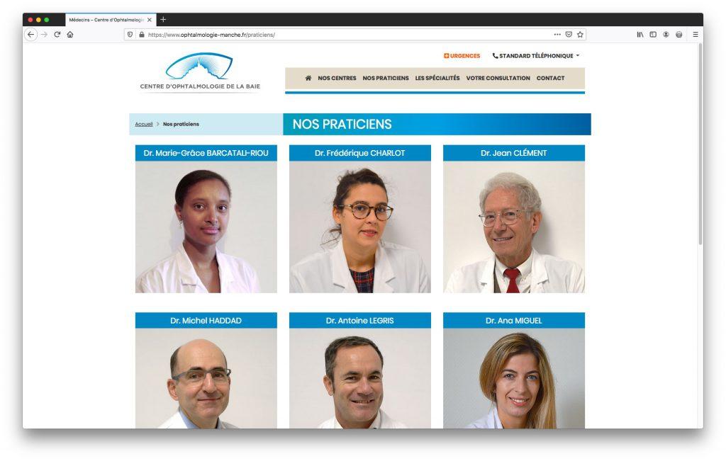 Liste des médecins - Site Internet