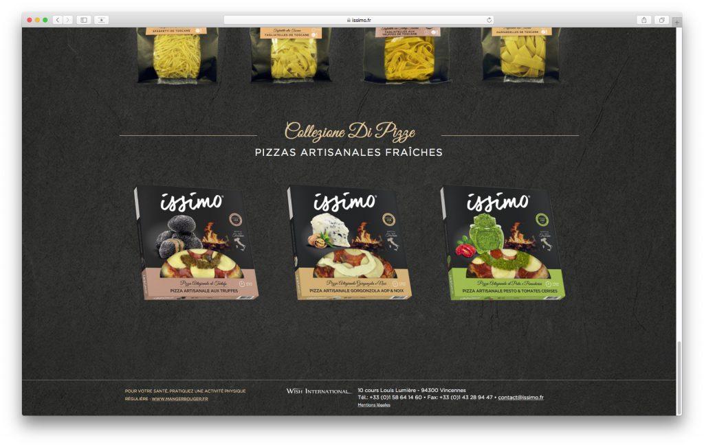 Gamme Pizza sur le site internet